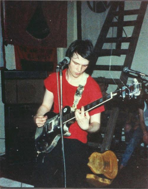 Nick Blinko of Rudimentary Peni in the early 1980s